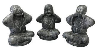 Three Baby Monks - See - Hear - Speak NO EVIL (Set of 3)