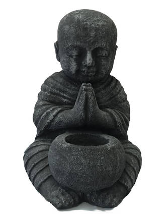 Praying Shaolin Monk with Bowl