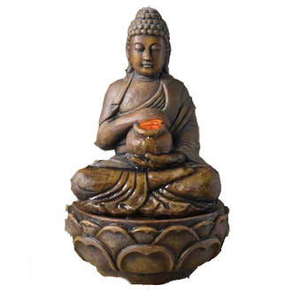 Buddha With Bowl Water Fountain (Indoor)