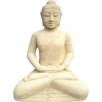 Meditating Buddha - Cream
