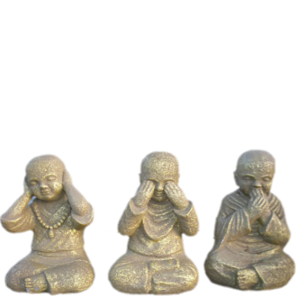 Wise Buddhas - Hear no evil, See no evil, Speak no evil