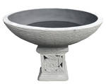 Bowl with Rose Carving Pedestal