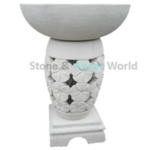 Bowl & Plinth - White Fragipani