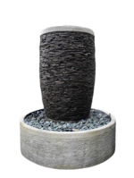 Slate Stacked Stone Pot