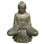 Buddha Sitting on Lotus -  Antique Gold