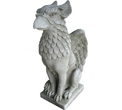 Feathered Griffin Griffon Gryphon Statue and Sculpture