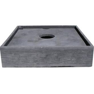 Square Concrete Pond with Lid