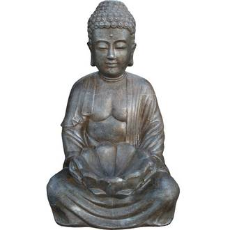 Sitting Buddha with Lotus Flower