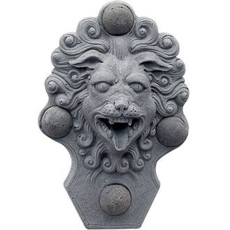 Classical Lion Fountain Plaque
