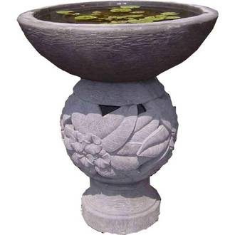 Bowl with Carved Pedestal