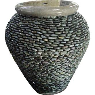 Urn with Pebble Detail